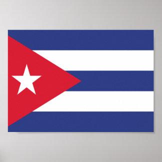 Kuba-Flagge Poster