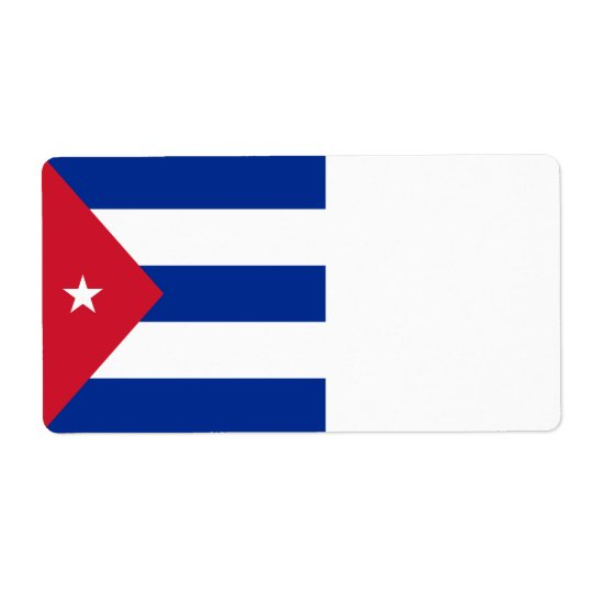 Kuba-Flagge Versand Aufkleber