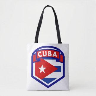Kuba-Flaggen-Schild Tasche