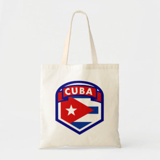 Kuba-Flaggen-Schild Tragetasche