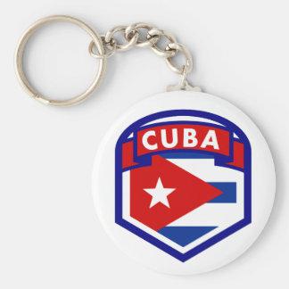 Kuba-Flaggen-Wappen Schlüsselanhänger