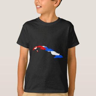Kuba-Flaggenkarte T-Shirt