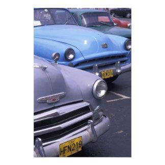Kuba, Havana. Klassische Fünfzigerjahre Autos Foto Drucke