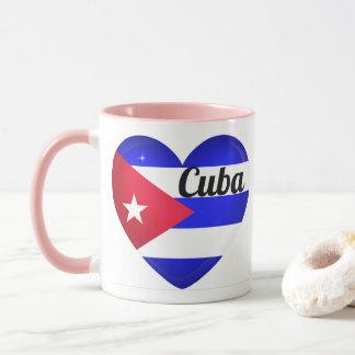 Kuba-Herz-Flagge Tasse