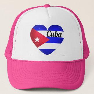 Kuba-Herz-Flagge Truckerkappe