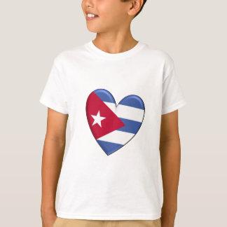 Kuba-Herz-Flaggen-T - Shirt