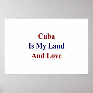 Kuba ist mein Land und Liebe Poster