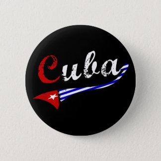 Kuba-Knopf mit kubanischen Flaggen-Farben Runder Button 5,7 Cm