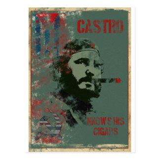 Kuba-Propaganda Castro Postkarte