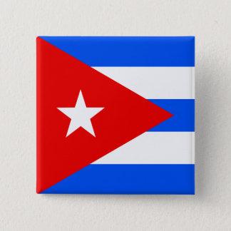 Kuba-Qualitäts-Flagge Quadratischer Button 5,1 Cm