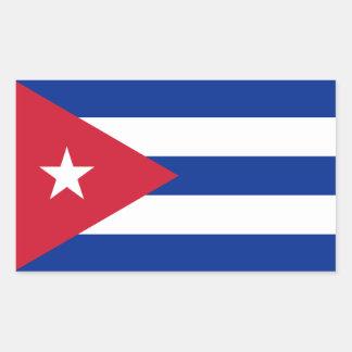 Kuba Rechteckiger Aufkleber
