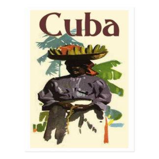 Kuba und kreolische Frau Postkarte