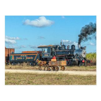 Kuba. Zuckerplantagenverkehr Postkarte