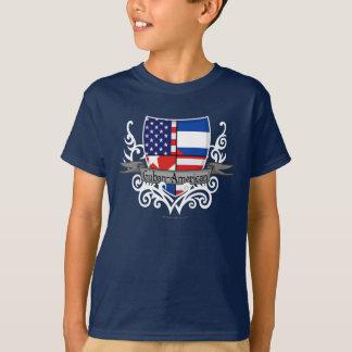 Kubaner-Amerikanische Schild-Flagge T-Shirt
