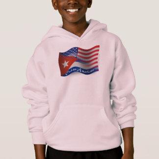 Kubaner-Amerikanische wellenartig bewegende Flagge Hoodie