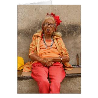 Kubanische ältere Damen-Karte Karte