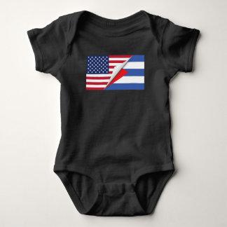 Kubanische amerikanische Flagge Baby Strampler