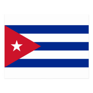 Kubanische Flagge - Bandera Cubana - Flagge von Postkarte