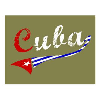 Kubanische Flagge Postkarte