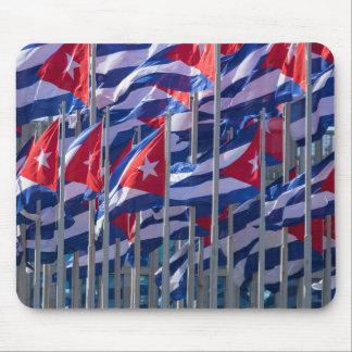 Kubanische Flaggen, Havana, Kuba Mousepad