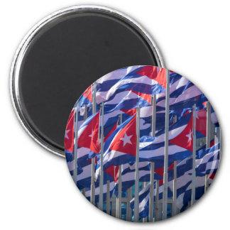 Kubanische Flaggen, Havana, Kuba Runder Magnet 5,1 Cm
