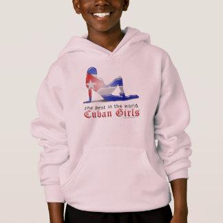 Kubanische Mädchen-Silhouette-Flagge Hoodie