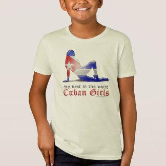 Kubanische Mädchen-Silhouette-Flagge T-Shirt