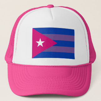 Kubanischer Bi-Stolz bisexuelles LGBT Truckerkappe