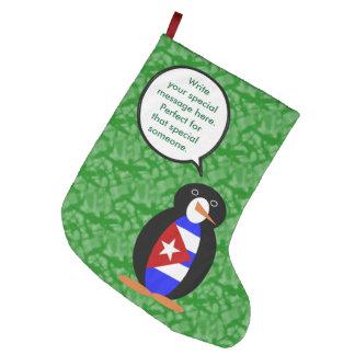 Kubanischer Feiertags-Herr Penguin Großer Weihnachtsstrumpf