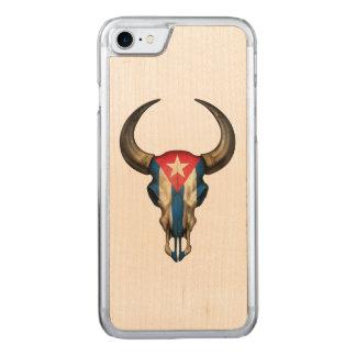 Kubanischer Flaggen-Stier-Schädel Carved iPhone 8/7 Hülle