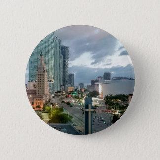Kubanischer Freiheits-Turm in Miami 2 Runder Button 5,7 Cm