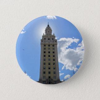 Kubanischer Freiheits-Turm in Miami 4 Runder Button 5,7 Cm