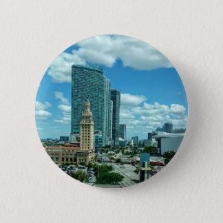Kubanischer Freiheits-Turm in Miami 5 Runder Button 5,7 Cm