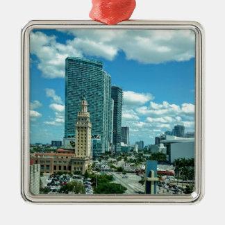 Kubanischer Freiheits-Turm in Miami 5 Silbernes Ornament