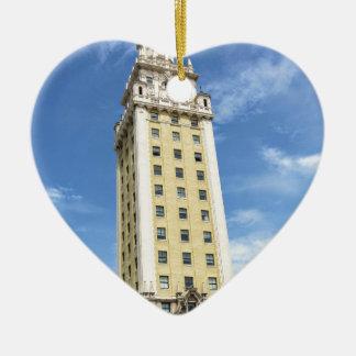 Kubanischer Freiheits-Turm in Miami 6 Keramik Herz-Ornament