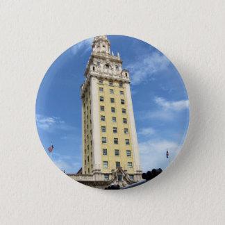 Kubanischer Freiheits-Turm in Miami 6 Runder Button 5,7 Cm