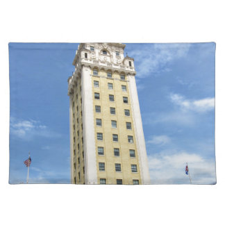 Kubanischer Freiheits-Turm in Miami 6 Stofftischset