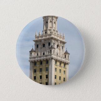 Kubanischer Freiheits-Turm in Miami Runder Button 5,7 Cm