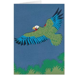 Kubanischer Papagei Grußkarte
