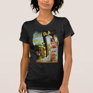 Kubanischer Tänzer-Vintage Reise T-Shirt