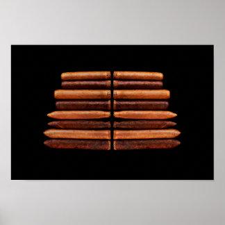 Kubanischer Zigarren-Tabak-Minimalismus Poster