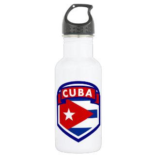Kubanisches Flaggen-Schild Trinkflasche