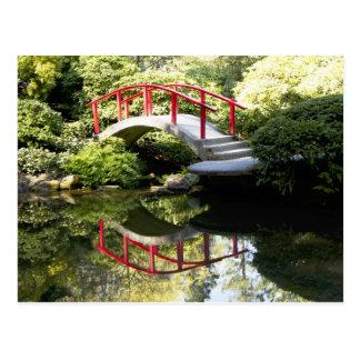 Kubota arbeitet Brücken-Postkarte im Garten Postkarte