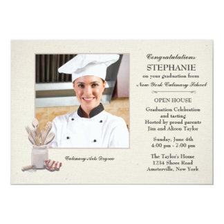 Küche bearbeitet Foto-kulinarischen SchulAbschluss 12,7 X 17,8 Cm Einladungskarte