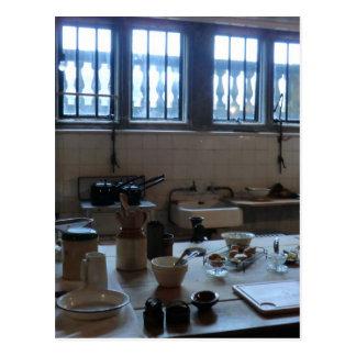 Küche bei Sudbury Hall in Derbyshire, England Postkarte
