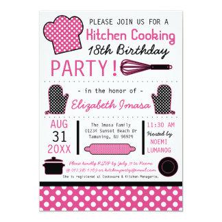 Küche, die Geburtstags-Party kocht 12,7 X 17,8 Cm Einladungskarte