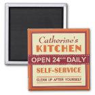 Küche - individueller Name - Magnet