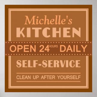 Küche - individueller Name - Plakat