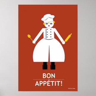 """Küche Martzkin """"Bon Appétit!"""" Plakat"""