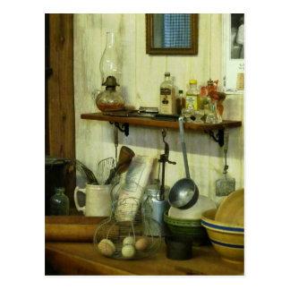 Küche mit Draht-Korb der Eier Postkarten